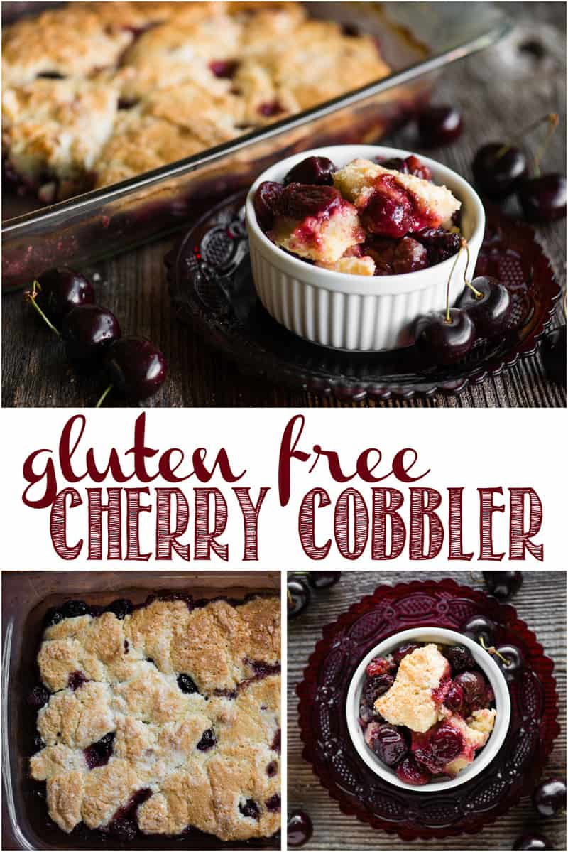 Gluten Free Cherry Cobbler, made with fresh or frozen sweet cherries, is the perfect summer dessert, especially when cooked up on the grill! #cherry #cherries #cherrycobbler #cherrycobblerrecipe #easy #fresh #glutenfree #almond #grill #bbq #homemade #fromscratch #best #sweet