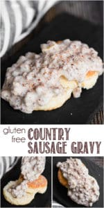 recipe for gluten free country sausage gravy