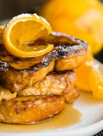 stack of orange Grand Marnier French Toast