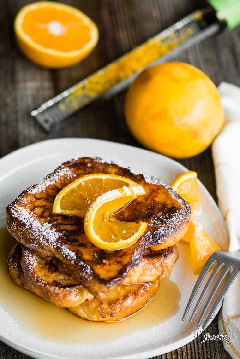 Grand Marnier French Toast with orange zest