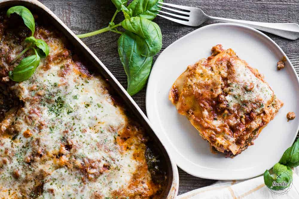 classic four cheese lasagna recipe with Italian sausage