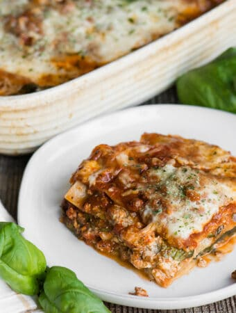 recipe for the best lasagna with sausage and spinach