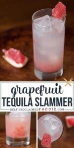 Grapefruit Tequila Slammer cocktail recipe