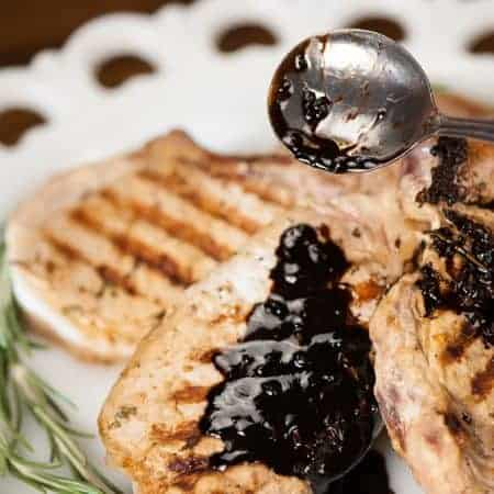 Looking for a delicious new grilling recipe for tonight? Serve up some Grilled Pork Chops with Balsamic Butter Sauce for your next family dinner.