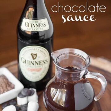 If you've never made your own homemade chocolate sauce, its super easy. This Guinness Chocolate Sauce tastes even better because its made with stout beer!