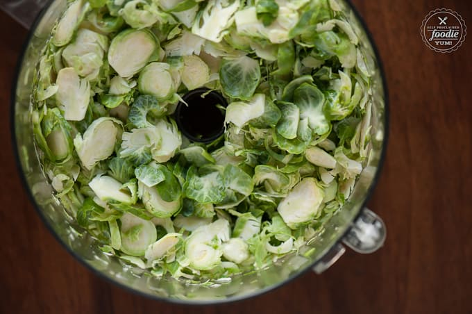 brussel sprouts in a blender