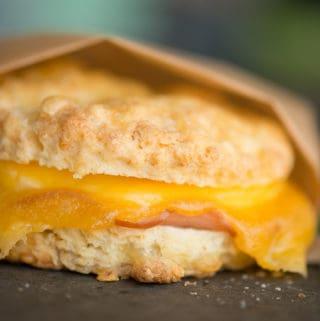 Ham, Egg & Cheese Breakfast Sandwiches