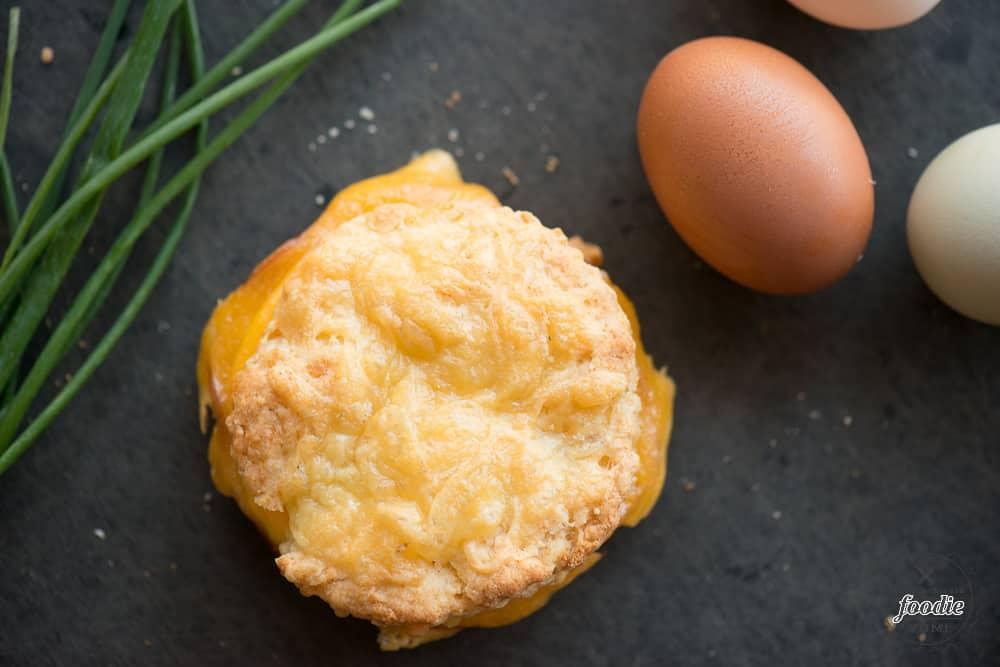 Ham, Egg and Cheese Breakfast Sandwich recipe