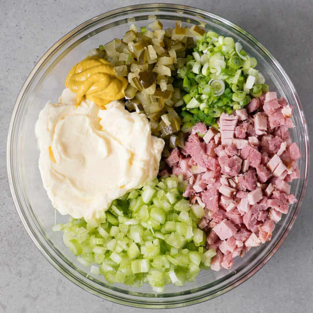 ingredients to make ham salad