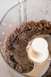 ground mushrooms in food processor