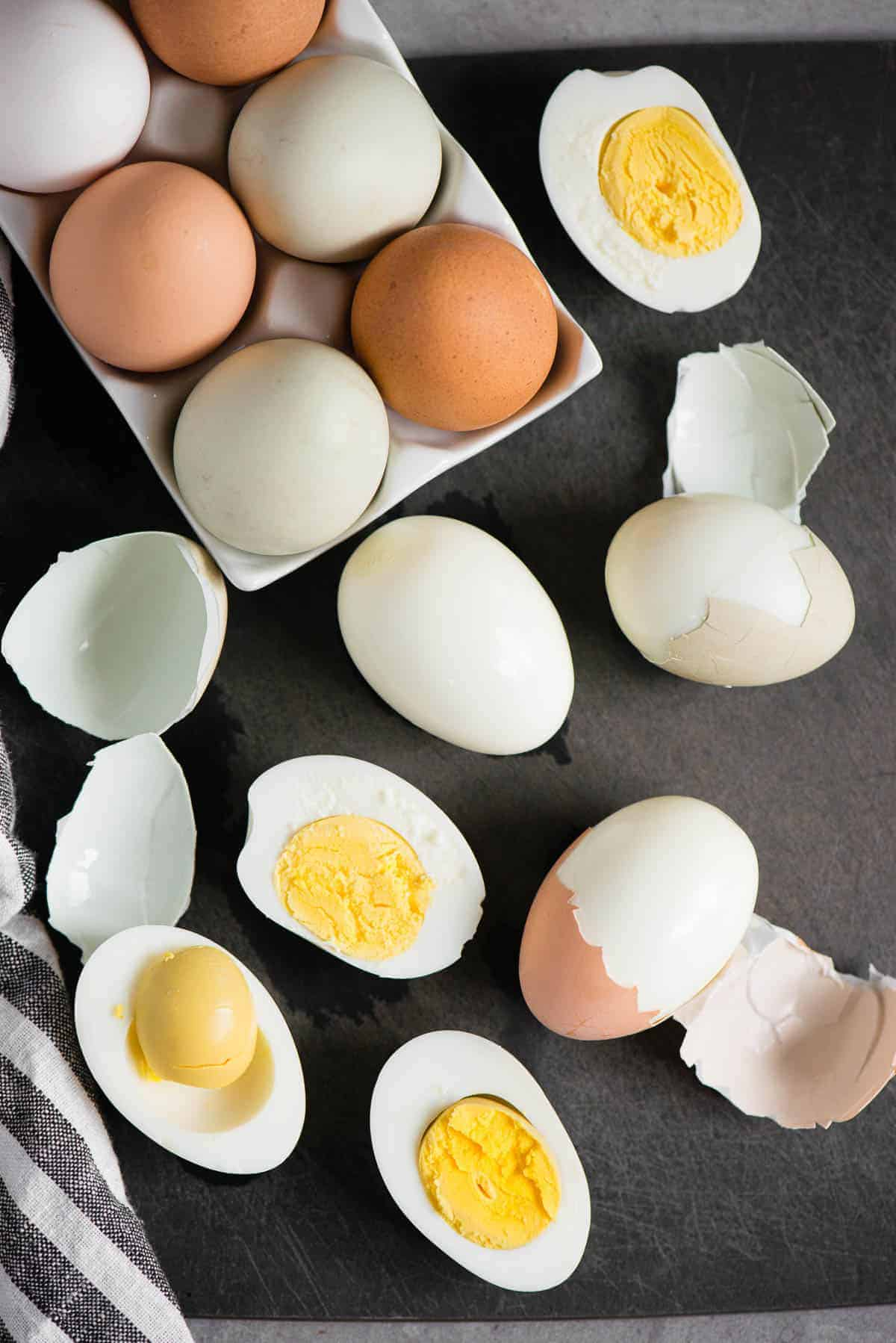 eggs that have been hard boiled