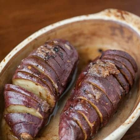 If you love sweet potatoes, you'll love this perfect side dish of soft, tender, and flavorful Hasselback Sweet Potatoes sweetened with a brown sugar crust.