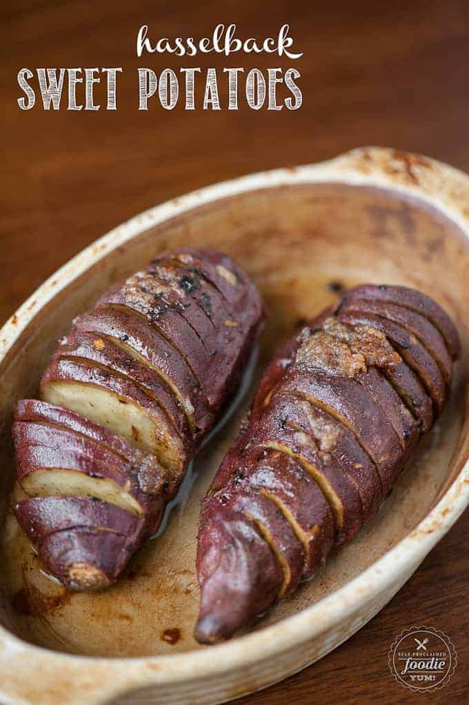 Hasselback Sweet Potatoes | Self Proclaimed Foodie