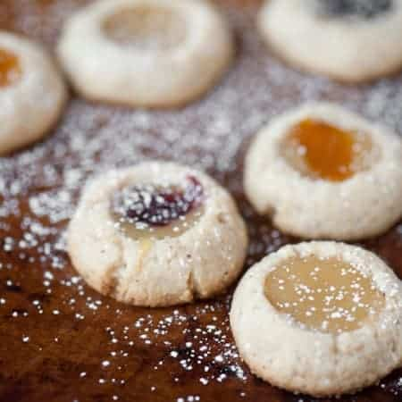 These delicious Hazelnut Lemon Curd Thumbprints showcase a delicate balance between sweet and tangy lemon and the rich toasted hazelnut butter cookie.