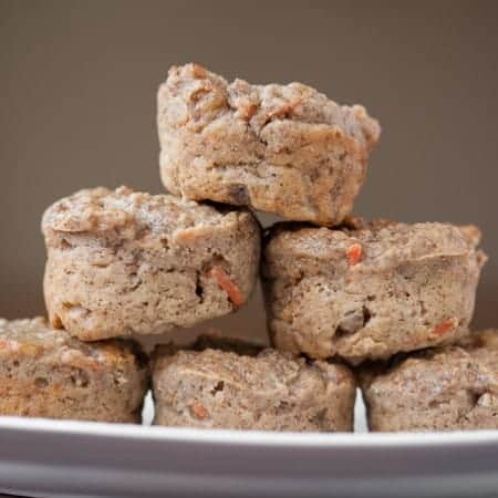 I made these kid friendly Healthy Bran Flake Muffins with bran flakes, greek yogurt, applesauce, carrots, and other ingredients I found in my kitchen!