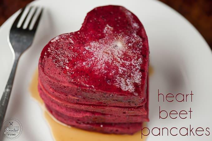 Heart Beet Pancake Recipe Self Proclaimed Foodie