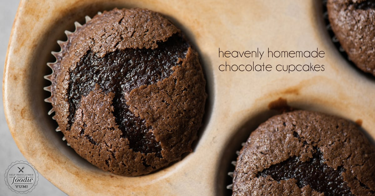 Heavenly Homemade Chocolate Cupcakes | Self Proclaimed Foodie