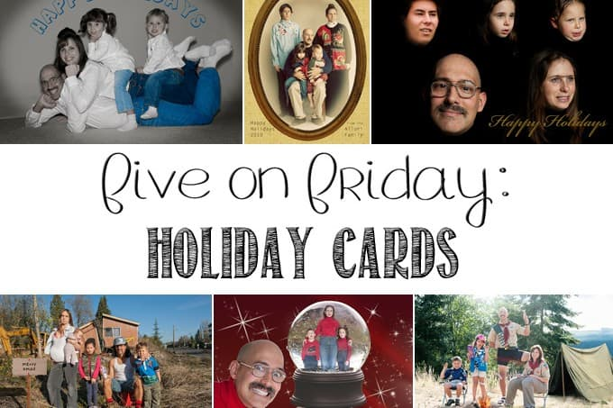 Today I'm sharing my favorite family holiday tradition with you - our the-fun-is-in-the-details sterotype mockery Holiday Cards!