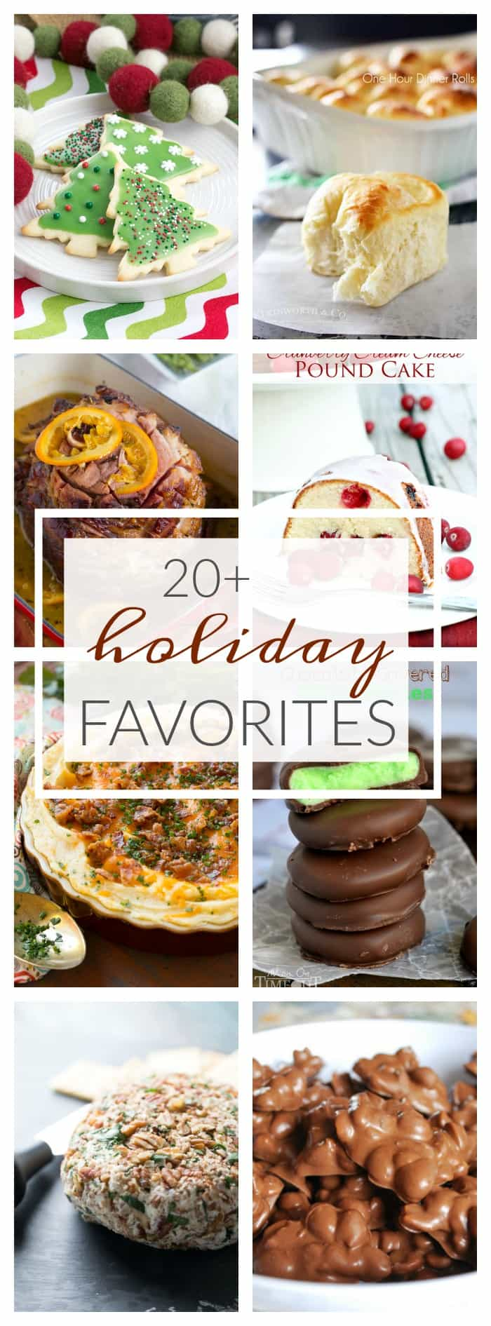 'Tis the season when all friends and family come together to celebrate the holidays and there's no better way than with 20 of My Favorite Holiday Recipes.