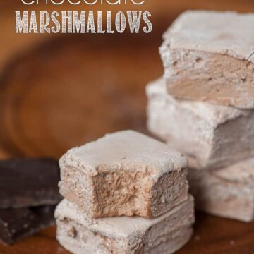 A close up of a homemade chocolate marshmellow