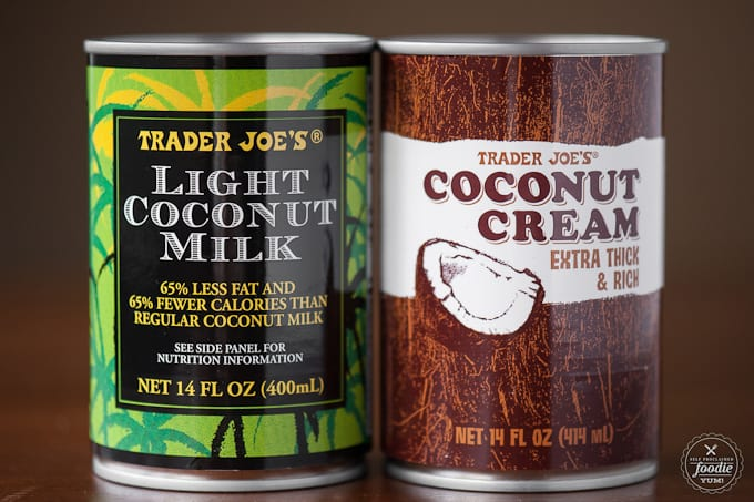 coconut milk and coconut cream