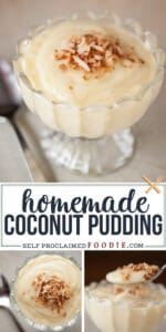 how to make homemade coconut pudding