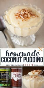 homemade coconut pudding recipe