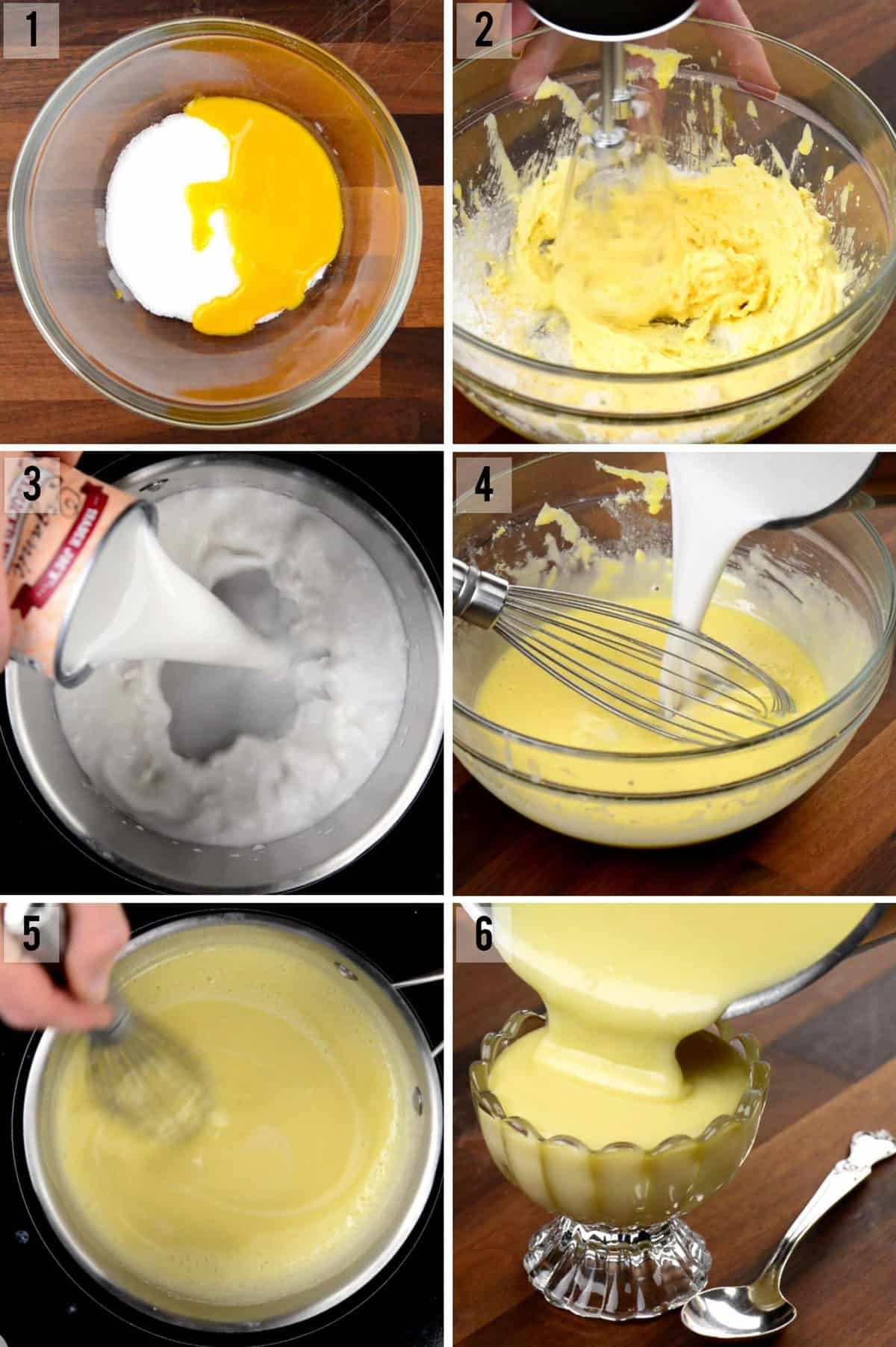 step by step photos of how to make coconut pudding