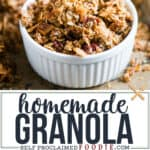homemade granola clusters