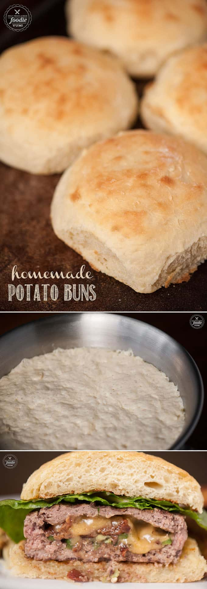 If you love making bread, you\'ll never want to buy store bought buns or rolls again after making these super soft and perfectly fluffy Homemade Potato Buns.