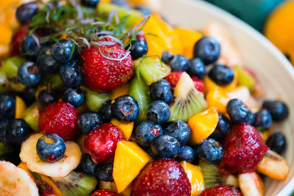 easy Honey Lime Fruit Salad
