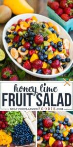 Honey Lime Fruit Salad recipe