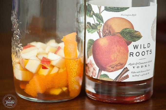 My easy, delicious, and perfect for fall Honeycrisp Sangria is made with the most incredible locally produced apple cinnamon infused vodka and hard cider.