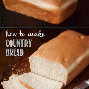 No bread machine required for this recipe. I'll show you How to Make Country Bread with a Kitchenaid and a loaf pan.
