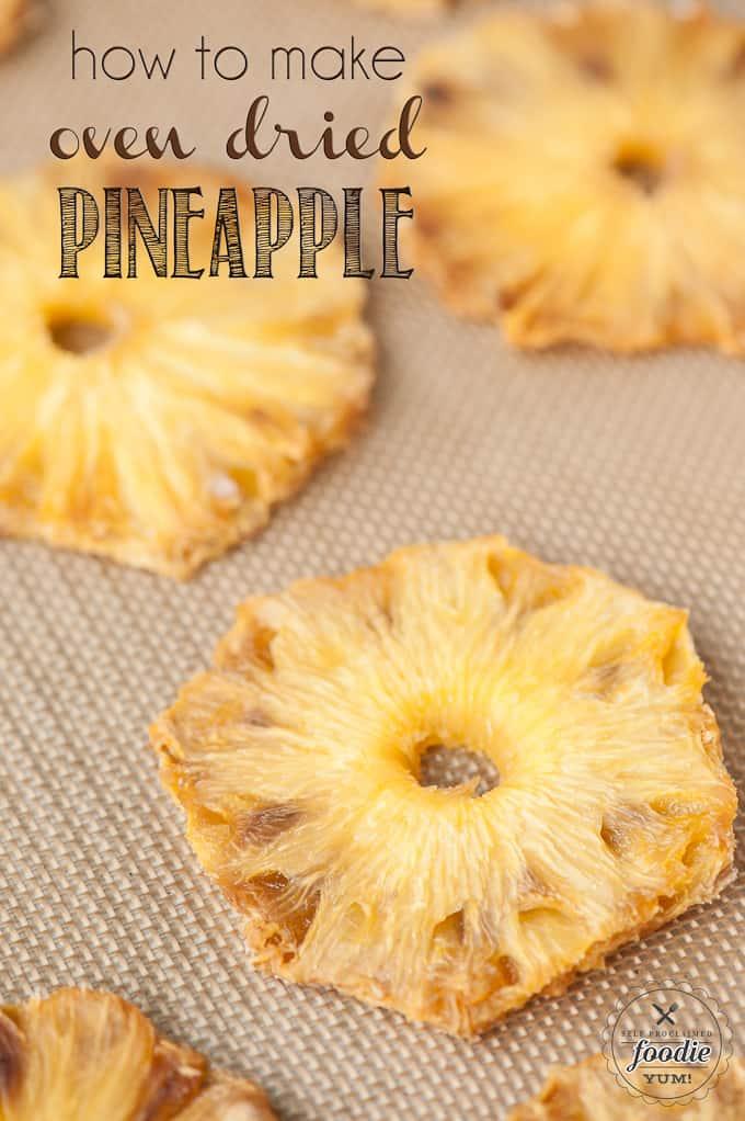 dried pineapple rings