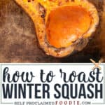 how to roast winter squash