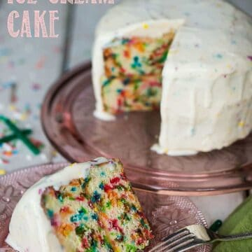 inside out birthday ice cream cake