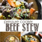 how to make beef stew in the pressure cooker or instant pot
