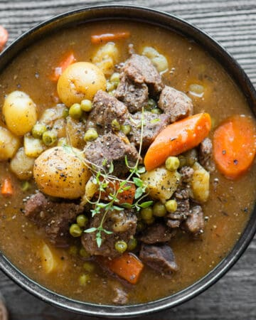 homemade Instant Pot Beef Stew in bowl