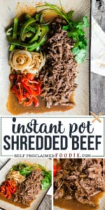 how to make instant pot shredded beef with peppers and onions