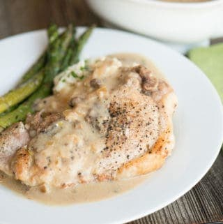 Pressure cooker smothered pork chops