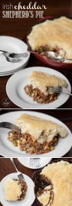 This Irish Cheddar Shepherd's Pie is the perfect comfort food, tastes even better leftover, meal that your family will love.