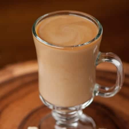 If you're looking for coffee with a kick, start your day with this hot IRISH COFFEE ROYALE made with brandy and Irish cream!