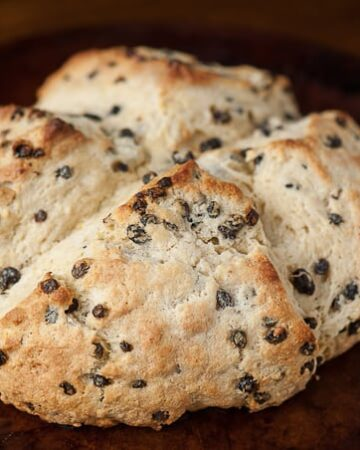 This classic and delicious Irish Soda Bread with currants is super easy to make and is a perfect addition to any St. Patrick's day celebration.