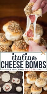 easy italian cheese bombs