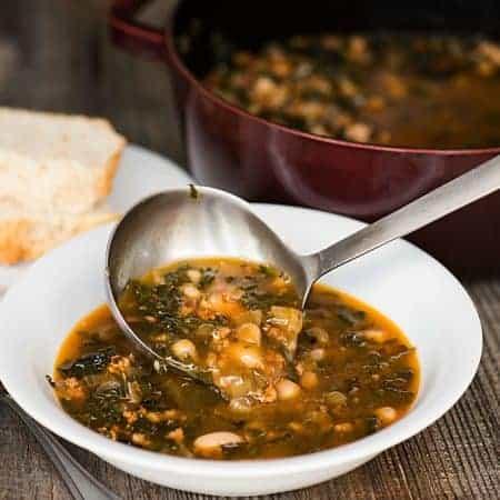 Kale Soup with Italian Pork & White Beans