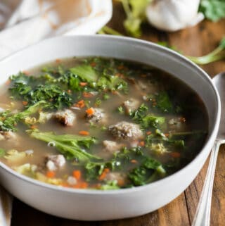 bowl of authentic italian wedding soup