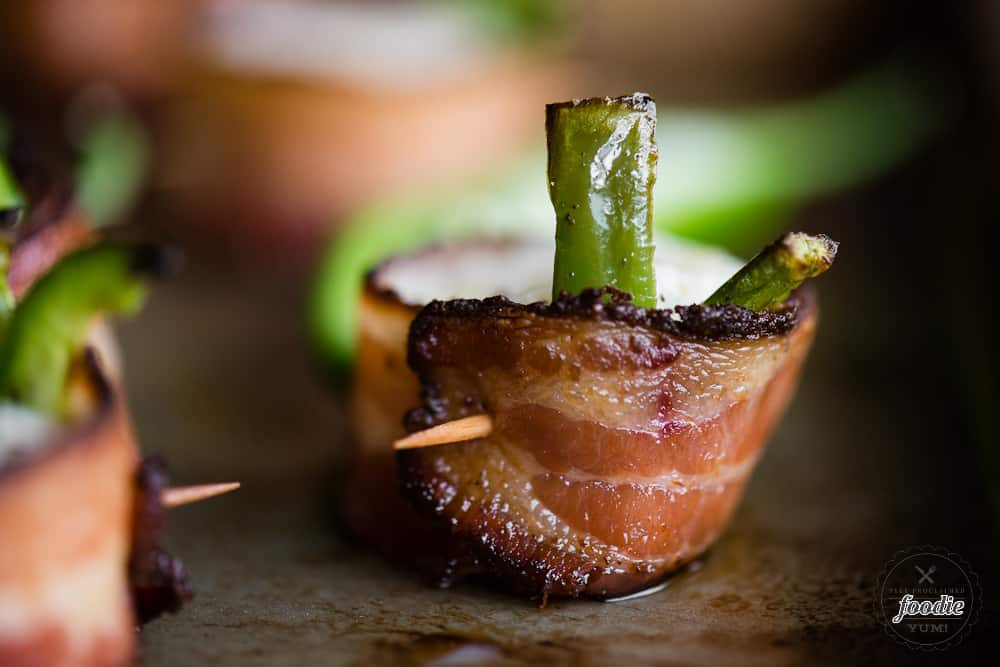 Jalapeño Bacon Wrapped Scallops with toothpick