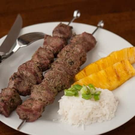 These Jamaican Jerk Sirloin Kabobs using a homemade marinate of fresh vegetables and spices are quite possibly the most delicious way to enjoy grilled meat.