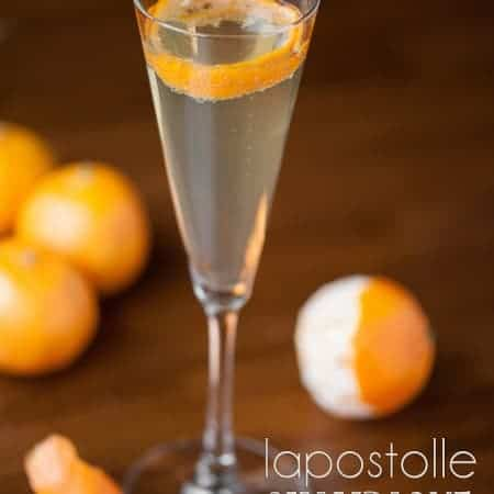 Celebrate the New Year with this beautiful, delicious, and easy to make Lapostolle Champagne Cocktail with a splash of Grand Marnier.